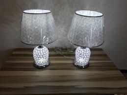 Schlafzimmer Lampe E27 Led Kristall Tischlampe Tischleuchte Schirmlampe Nachttisch Lampe