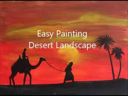 how to paint desert landscape acrylic painting tutorial for
