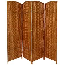 6 ft dark beige 4 panel room divider fbopdmnd4pdbg the home depot