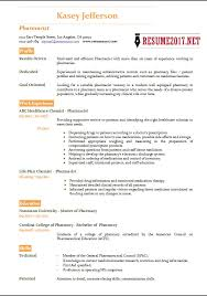 Pharmacy Resume Examples by Pharmacist Resume 2017 Templates U2022