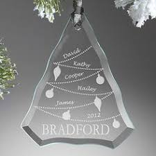 etched glass ornaments personalized engraved glass christmas tree ornament with engraved bellet