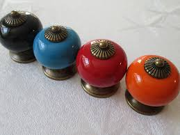 Colorful Kitchen Cabinet Knobs by Kitchen Cabinet Pulls Handles Knob Door Handle Pull Ceramic