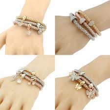 bangle bracelet sets images Three color stretch bangles bracelet sets crystal rhinestone music jpg