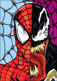 spider man venom drawing colored