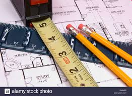 House Floor Plan Measurements Measuring Tape And Ruler On Red Background And House Floorplan