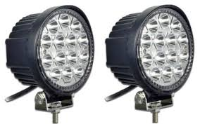 round led driving lights 4 5 in 42 watt round led driving light wildcat hunting products llc