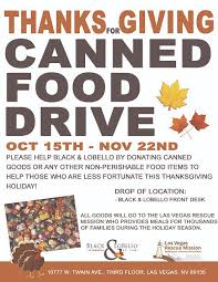 thanks for giving canned food drive black lobello attorneys at