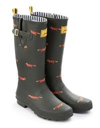 womens boots joules i these because of the foxes it just makes sense
