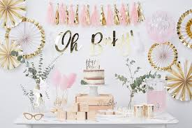 gold and pink baby shower pink gold baby shower ideas party delights