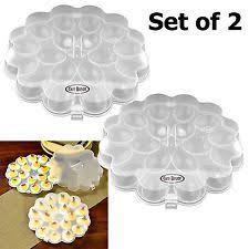 ceramic egg plate deviled egg plate ebay