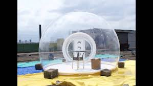 inflatable bubble clear tent youtube