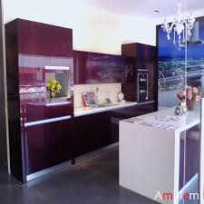 Black Lacquer Kitchen Cabinets by Purple Kitchen Cabinets