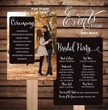 printed wedding programs printed sle for 2 dollars or sets of 50 custom printed wedding