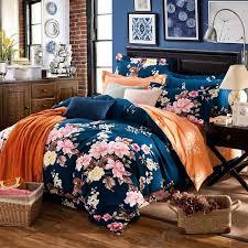 Pink Duvets Fashion 4pcs Floral Country Boho Bedding Princess Pink Duvets And