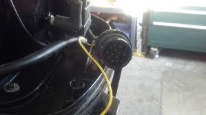 2008 mercury 50elpto 2 stroke w 881170a13 control box gauge