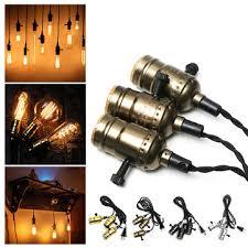 triple light bulb socket e27 edison chandelier bar house retro l head triple light