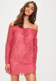 dress pink lace dresses women s lacy dresses online missguided ie
