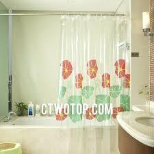 Clear Vinyl Shower Curtains Designs Clear Shower Curtains With Designs Clear Vinyl Shower Curtains