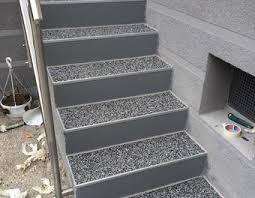steinteppich verlegen treppe außentreppe mit steinteppich sanieren bauanleitung zum selber