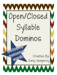 Challenge Open Or Closed Open And Closed Syllables Dominos With Bonus Nonsense Words