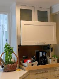 garage door for kitchen cabinet this great garage sports a lift up style door for easy
