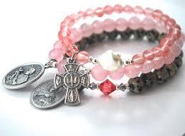 cross bracelet jewelry images St gerard st philomena cross bracelet stack saint bracelets jpg