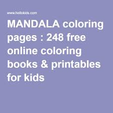 mandala coloring pages 248 free coloring books