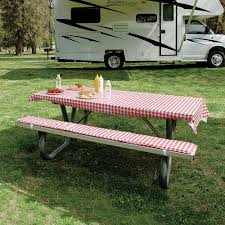 Elastic Picnic Table Covers Table Cover U0026 Padded Bench Cushions Direcsource Ltd 69050