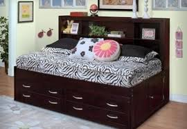 stylish finn cherry full size bookcase headboard captains bed full