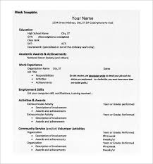 free exle resume high school resume format for college application template free