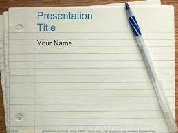 Notebook Paper Pen Education Powerpoint Templates Powerpoint Educational Powerpoint Themes