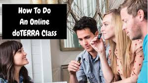 how to do an online class how to do an online doterra class
