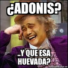 Adonis Meme - meme yao wonka adonis y que esa huevada 1319433