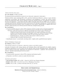 Entry Level Chemist Resume Revised Resume 2014