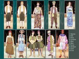 costumes that each character could of worn when the play took