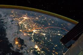 India Satellite Map by India Pakistan Borderlands At Night Image Of The Day