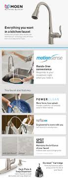 moen motionsense kitchen faucets moen arbor single handle pull sprayer touchless kitchen