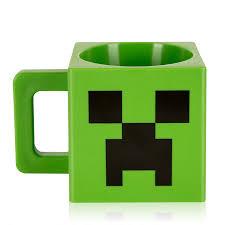 Coolest Mugs Jinx Minecraft Plastic Creeper Face Mug