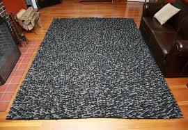 Black And Brown Area Rugs Mats Inc Wool Felt Hand Tufted Black Brown Area Rug Wayfair