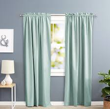 Curtains On Windows With Blinds Inspiration Inspiring Teal Light Blocking U Curtain Ideas Pic Of