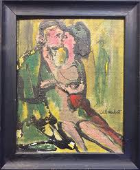 mid century two lovers painting 1965 http www mghdiscoveredart