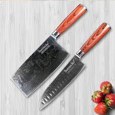 japanese kitchen knives set sunnecko 2pcs damascus kitchen knives set japanese vg10 steel