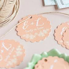 wedding gift tags personalized scalloped wedding gift tags