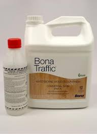 bona traffic waterborne wood floor finish commercial satin gallon