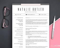marketing resume template resume templates etsy