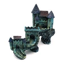1pcs simulation european villas castle aquarium ornament fish tank