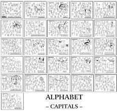 alphabet find and color worksheets for each letter including