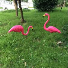 10 pairs lot plastic pink flamingo garden yard and lawn ornament