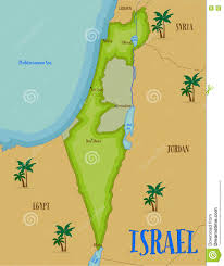 sheva israel map map of israel in style stock vector illustration 74060029