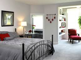 small bedroom colors and designs with romantic grey sheets and